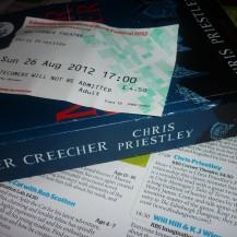 Chris Priestley (EIBF 2012): Event review